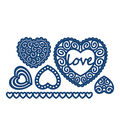 Tattered Lace Metal Die-Hearts