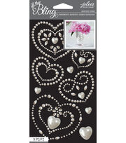 Jolee's Boutique All That Bling Hearts Wedding Bling, , hi-res