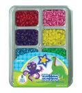 Perler Fused Bead Tray 2000/Pkg- Brights \u0027n Stripes