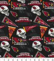 Arizona Cardinals Cotton Fabric-Retro, , hi-res