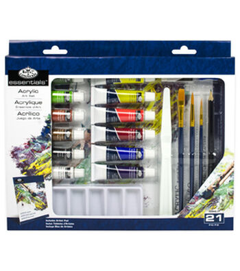 Royal Langnickel 21pc Acrylic Painting Box Set