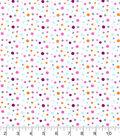 Nursery Flannel Fabric 42\u0022-Bright Multi Dot