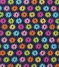 Blizzard Fleece Fabric 59\u0022-Owl Daisy Navy