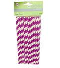 Purple Paper Straws 24pk