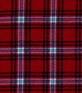 Snuggle Flannel Fabric -Hadley Red & Blue Plaid