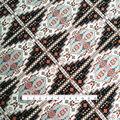 Smocked Dressing Rayon Fabric 53\u0027\u0027-Tan Boho Grid