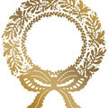 Couture Creations Anna Griffin Hotfoil Stamp-Christmas Wreath