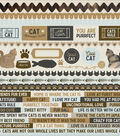 Kaisercraft Pawfect 12\u0027\u0027x12\u0027\u0027 Printed Sticker Sheet-Cat