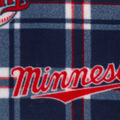 Minnesota Twins Fleece Fabric -Plaid