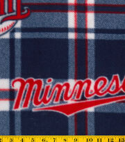Minnesota Twins Fleece Fabric -Plaid, , hi-res