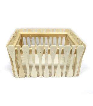 """Camp Ann Crafts 6.7"""" Wooden Oar Crate"""