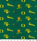 University of Oregon Ducks Cotton Fabric 43\u0022-Green