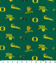 "University of Oregon Ducks Cotton Fabric 43""-Green, , hi-res"