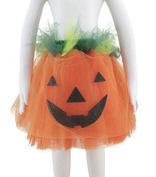 Maker's Halloween 14''x29'' Children's Tutu Costume-Pumpkin