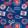 Chicago Cubs Cotton Fabric -Vintage