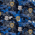 Police Department Cotton Fabric-Abstract Geo Logo