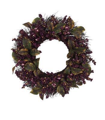 Blooming Autumn Berry Wreath-Purple