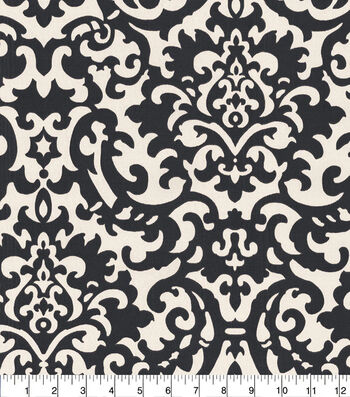 "Waverly Sun N' Shade Outdoor Fabric 54""-Duncan Ebony"