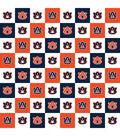 Auburn University Tigers Cotton Fabric-Collegiate Check
