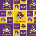 East Carolina University Pirates Cotton Fabric -Block