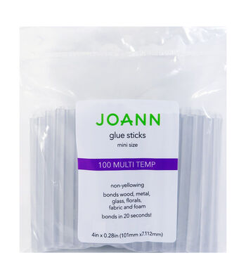 Joann Glue Sticks 100pc Mini Multi Temp 4""