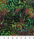 Legacy Studio Batik Fabric -Scrolls on Green