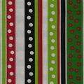 Christmas Cotton Fabric-Dots & Stripes