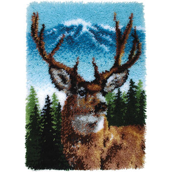 "Wonderart Classic Latch Hook Kit 20""X30""-Deer"