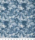 Keepsake Calico Glitter Cotton Fabric 43\u0027\u0027-Light Blue Snake Skin Crackle