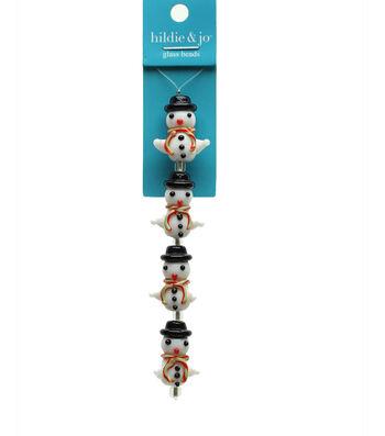 hildie & jo Strung Beads-Glass Snowman