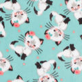 Anti-Pill Plush Fleece Fabric-Pretty Kitties
