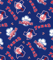 Cooperstown Texas Rangers Cotton Fabric, , hi-res