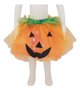 Maker's Halloween Child Pumpkin Tutu with LED Lights