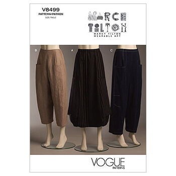 Vogue Patterns Misses Pants-V8499