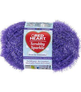 Red Heart Scrubby Sparkle Yarn