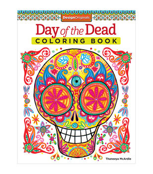 Adult Coloring Book Design Originals Day Of The Dead