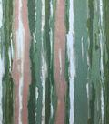 Knit Prints Rayon Spandex Fabric-Green Pink Stripe