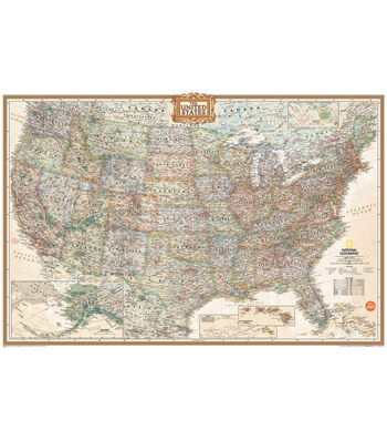 "Wall Pops National Geographic Dry Erase USA Map Decal, 24"" x 36"""