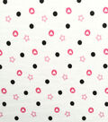Doodles Juvenile Printed Apparel Fabric -Floral & Love