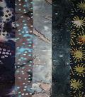 Jelly Roll Cotton Batik Fabric 20 Strips 2.5\u0027\u0027-Dark Tie Dye