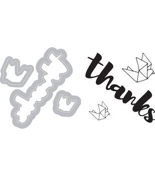 Sizzix Framelits Katelyn Lizardi Die & Stamp Set-Thanks