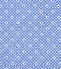 1930\u0027s Cotton Fabric 43\u0027\u0027-Diamonds & Dots on Blue