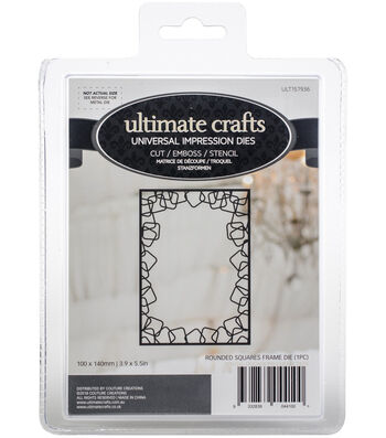"""Ultimate Crafts Special Occasions Die-Rounded Squares Frame 3.9""""X5.5"""""""