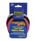 Pony Bead Lacing Variety Pack 60 Feet/Pkg-Primary Colors