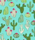 Snuggle Flannel Fabric -Blooming Cactus