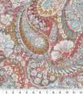 Robert Allen @ Home Print Swatch 55\u0022-Zen Paisley Coral