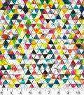 Premium Wide Cotton Fabric 108\u0022-Watercolor Triangles