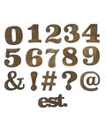 Fab Lab Craft 36 pk Numbers & Symbols-Rustic