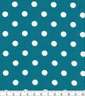 Keepsake Calico Cotton Fabric Large Dots on Teal