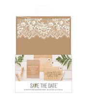 American Crafts Rustic Wedding Invites & Envelopes, , hi-res